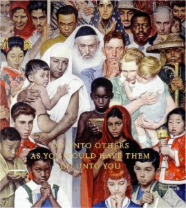 Norman Rockwell : The Golden Rule - 1961