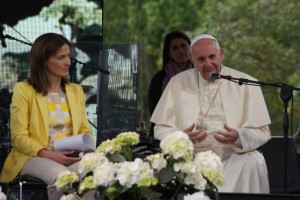 Le pape François au Village pour la terre