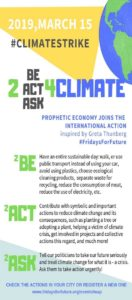Être, agir, demander pour le climat