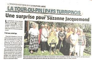 Hommage à la fondatrice Suzanne